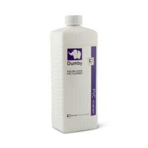 Een fles Dumby Polish voor PVC Vloeren