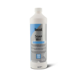 Een fles Lecol Soap Wit OH23