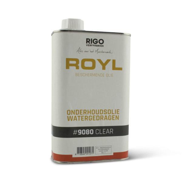 een blik watergedragen onderhoudsolie van Royl