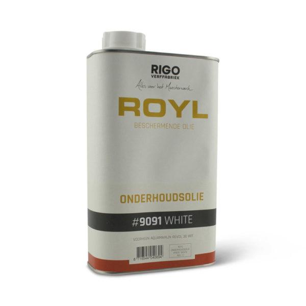 Een blik Rigo Royl Onderhoudsolie wit